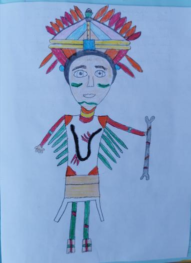 Oliwia's Maya warrior