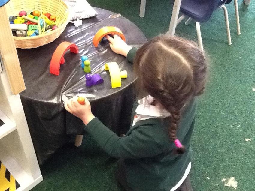 Exploring shapes.