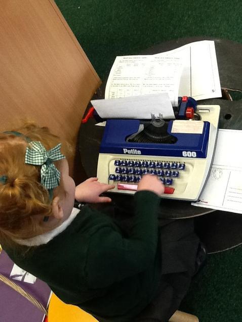 Exploring letters.
