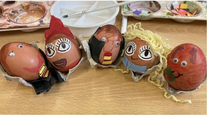 Egg models based on our shared book, 'After The Fall.'