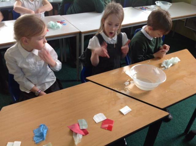 Classifying the different sorts of plastic.