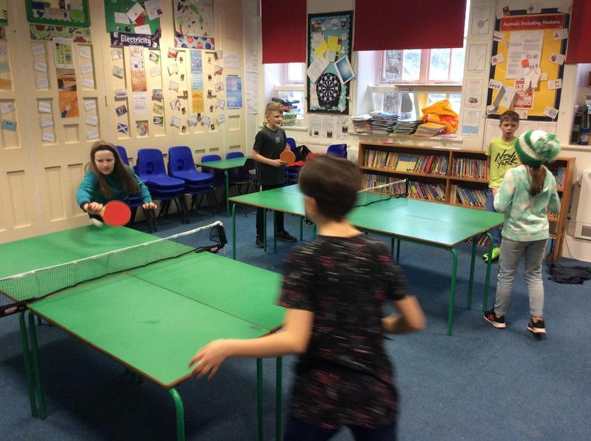 Lockdown table tennis.