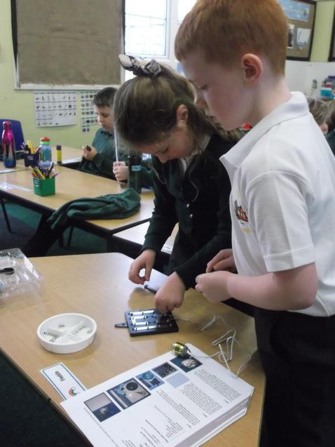 Making a solar powered machine.