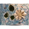 Matilda's art inspired by Monet's Water Lilies