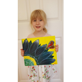 Verity's  art inspired by Monet's Water Lilies