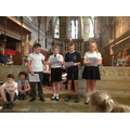 A poem was read by Year 5 children