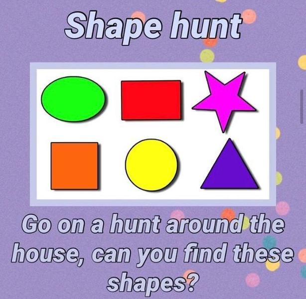 Indoor shape hunt