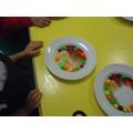 We are making rainbows!