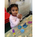 Using different play doh tools