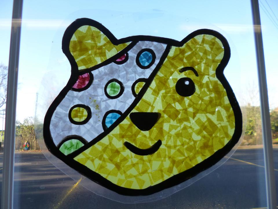A 'Pudsey' picture to go on our classroom window.