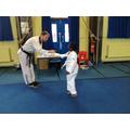 Children receiving their belts