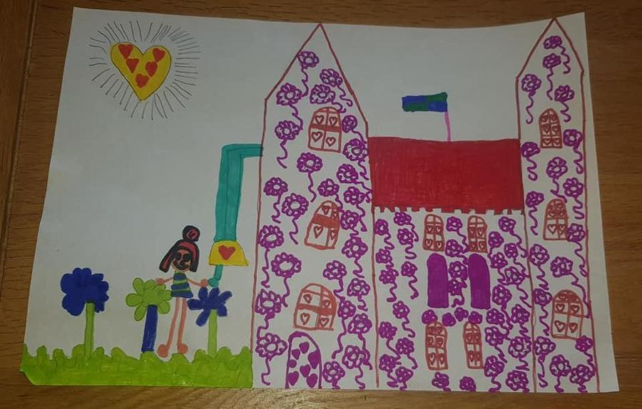 Olivia's design for a place of worship.