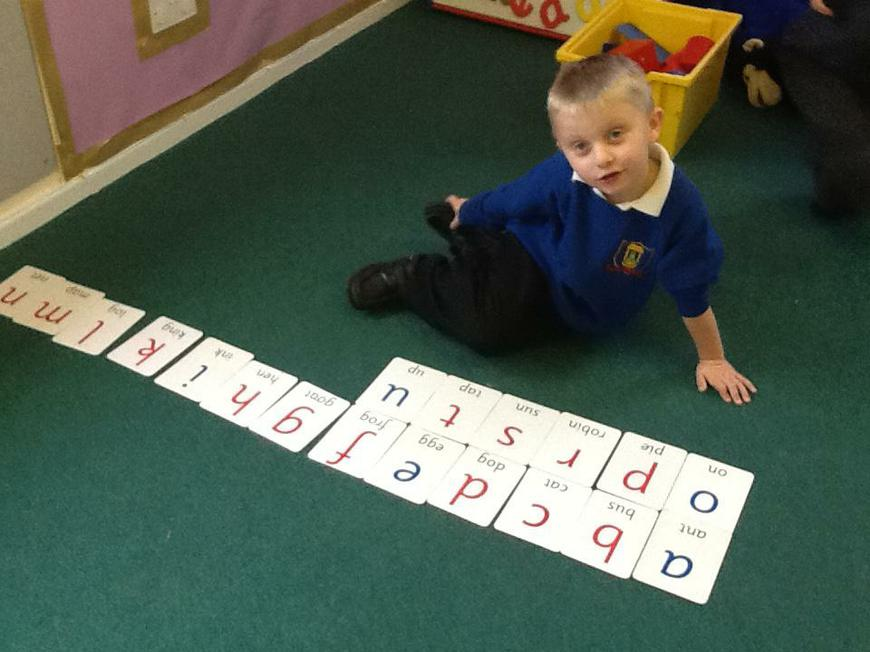 ordering the letters of the alphabet