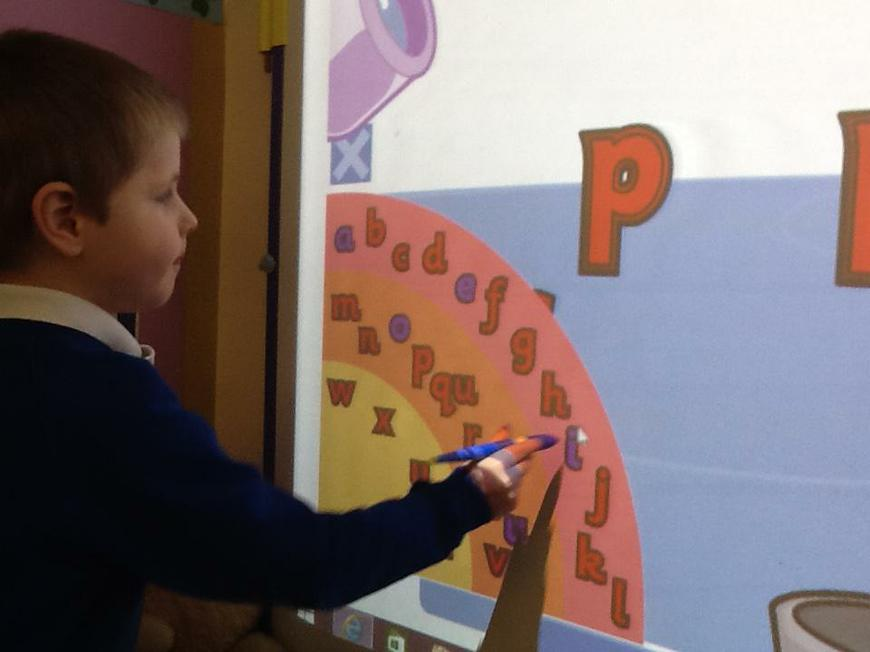 using the IWB to make words