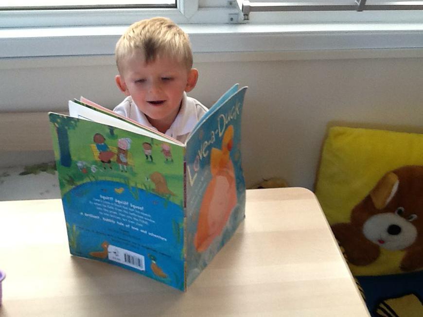 reading in the book corner
