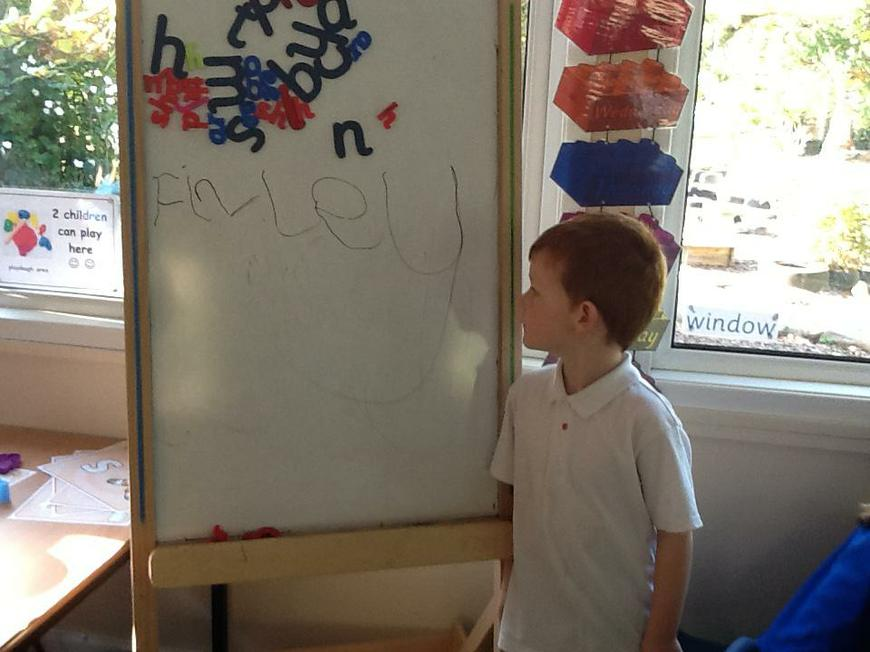learning to write our names