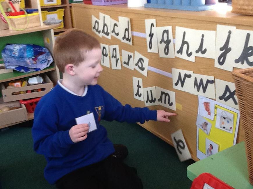 using the interactive alphabet