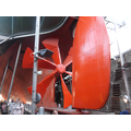 The rudder and the propeller.
