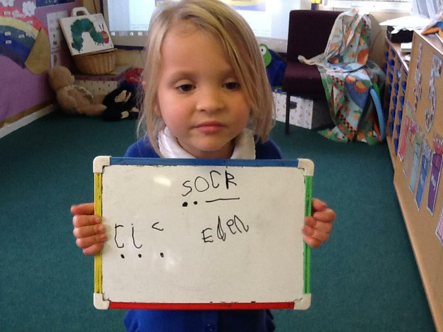 writing words (using sound buttons)
