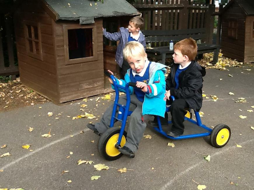 playing on Big Bikes (keeping fit, too!)