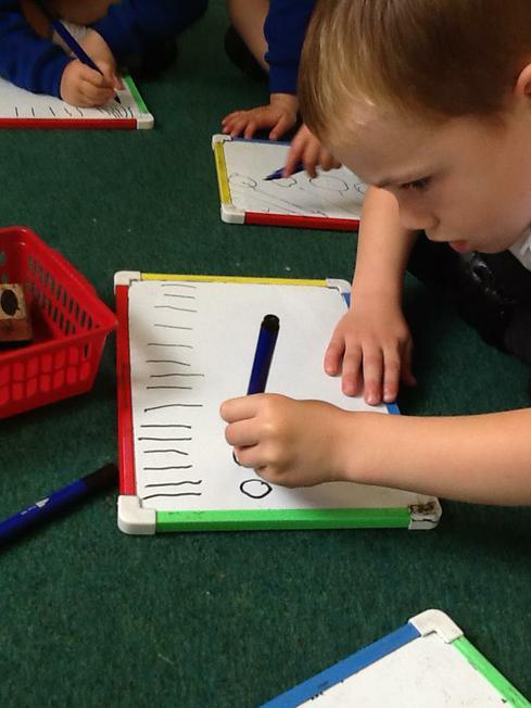 practising mark making