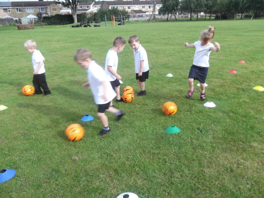 Dribbling skill games with our sports coach