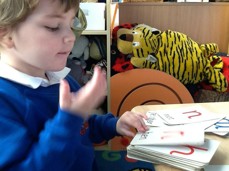 independently learning the letter sounds