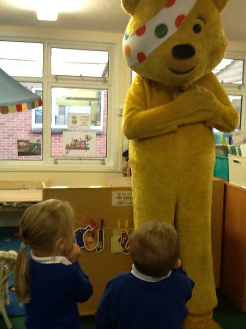 our special visitor...PUDSEY!