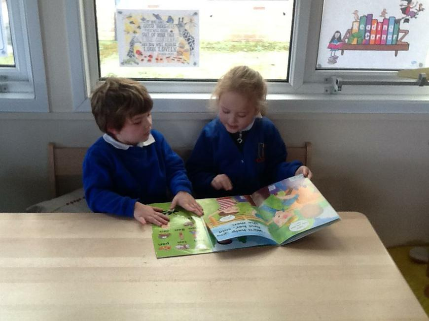 sharing a book together
