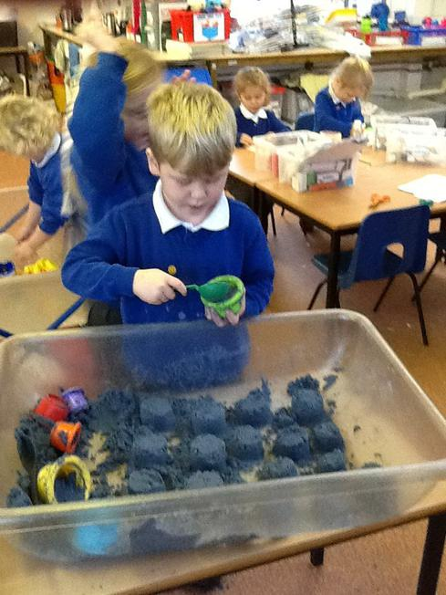 making sandcastles (1 more/less)