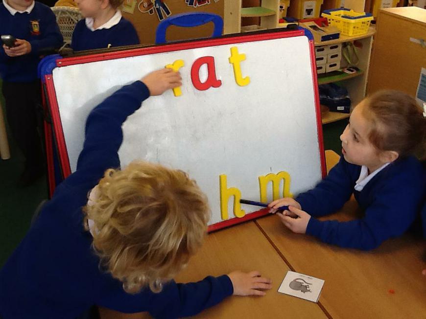 segmenting to spell (rhyming words)