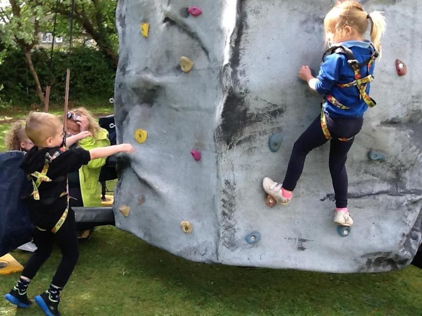 Climbing wall (visitors!)
