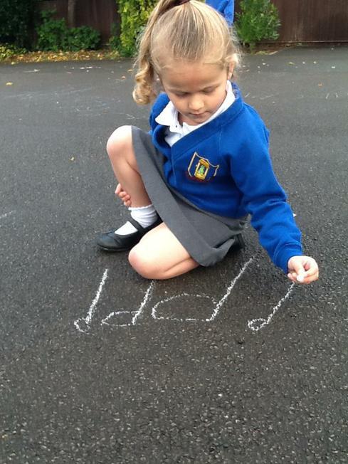 practising letter formation