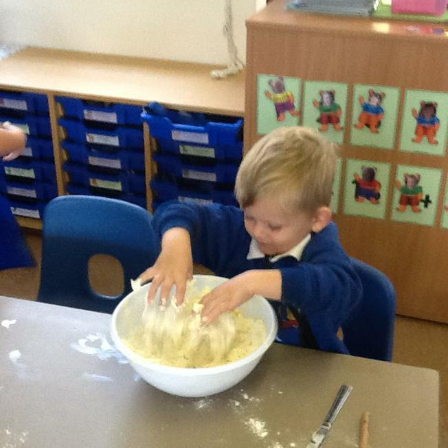 getting our hands mucky!