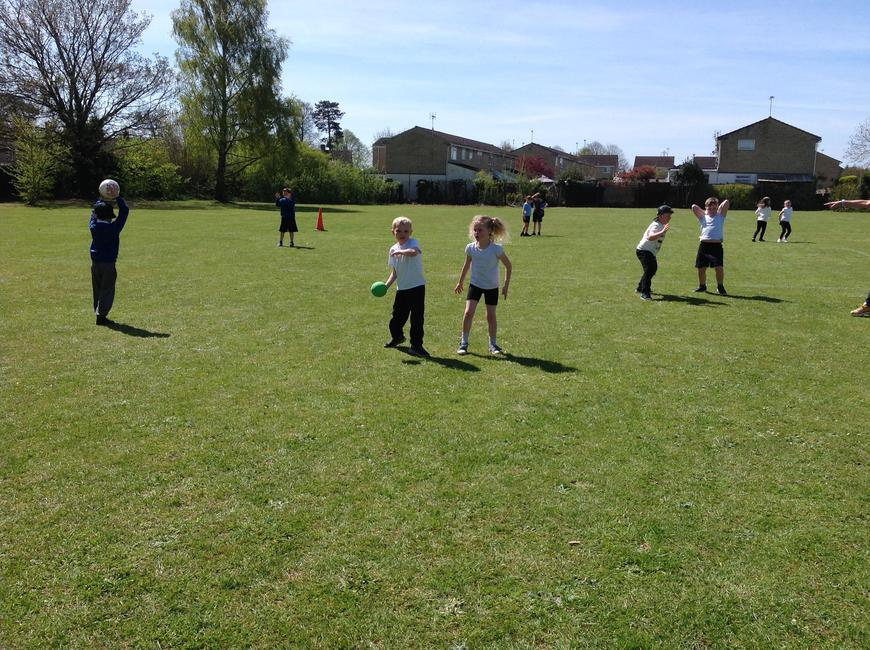 PE with our sports coach