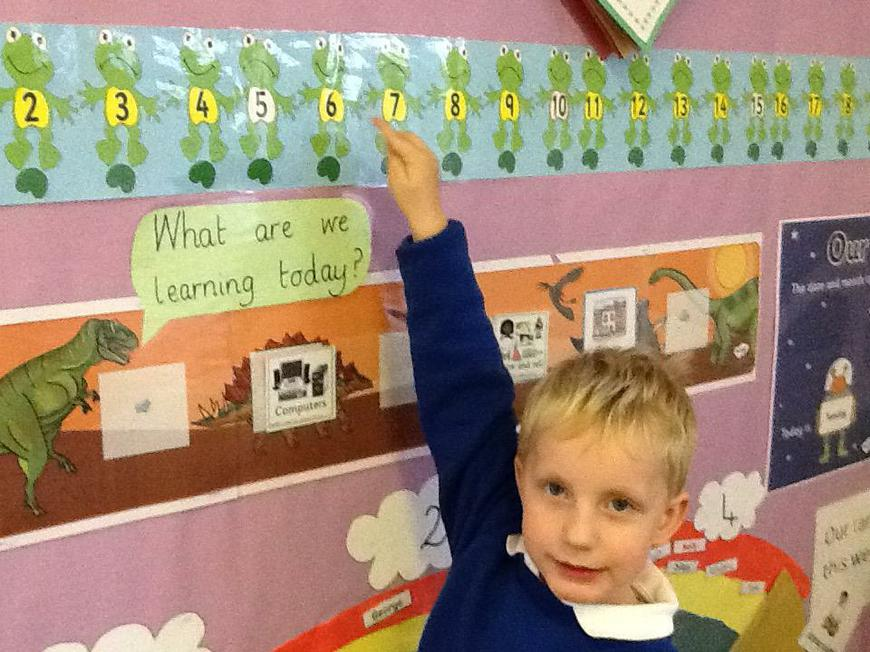 recognising numbers on the number track