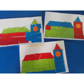 2d shape pictures of the Houses of Parliament.