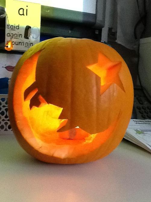 Our finished pumpkin design!