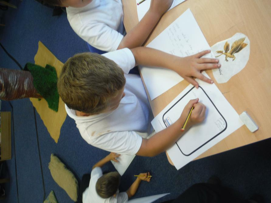 Writing letters to say 'Thank you'