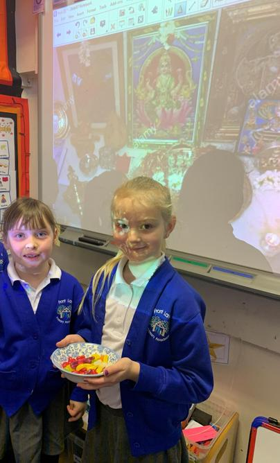 We made a shrine and shared sweets in remembrance.