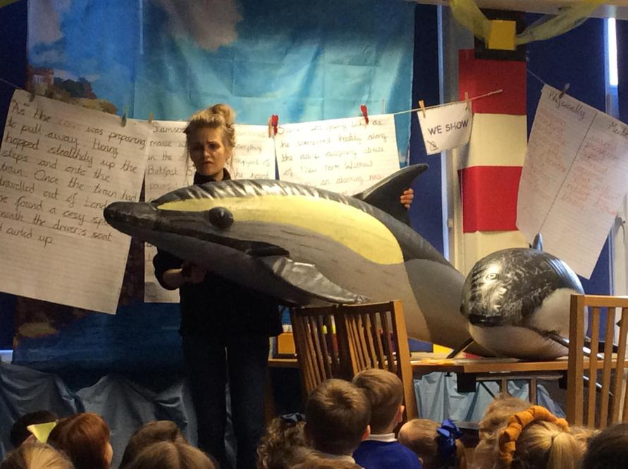 We met some life-size dolphins and porpoises!