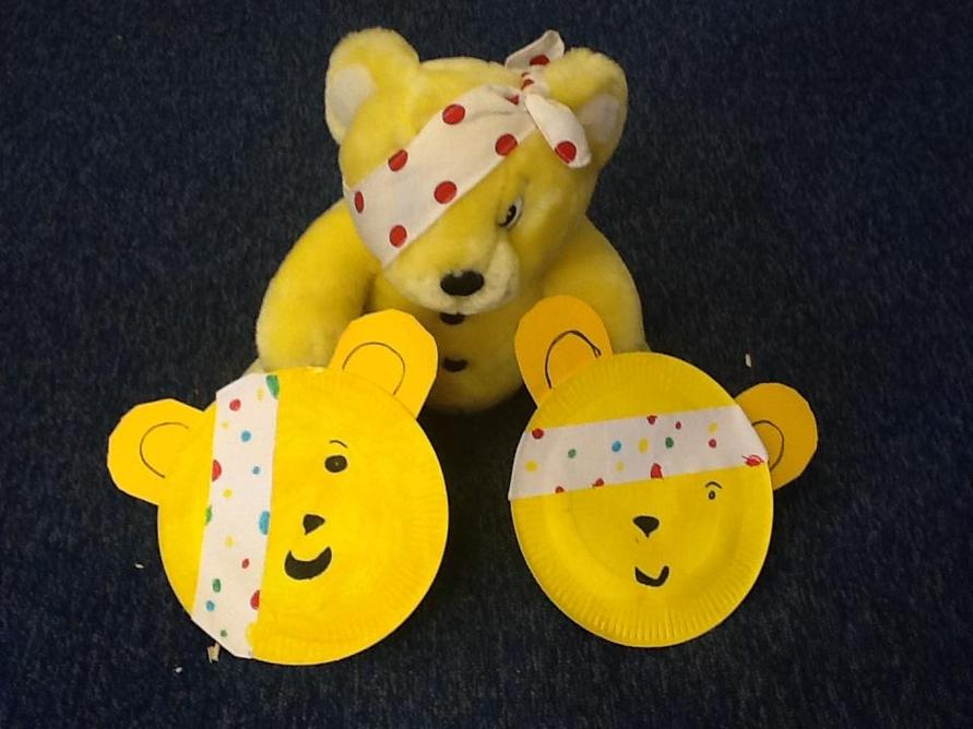 Year 2 enjoyed making some Pudsey faces from paper plates!