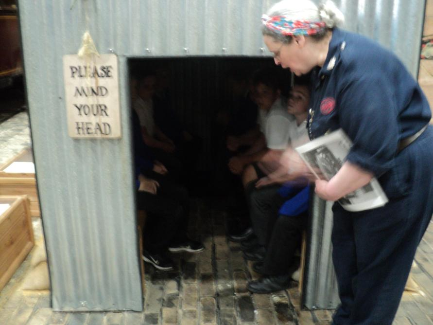They experienced being in an Anderson Shelter