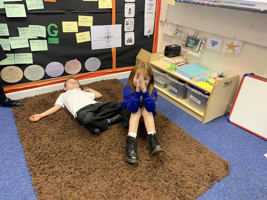 We acted out the ancient Hindu story of Prahlad.