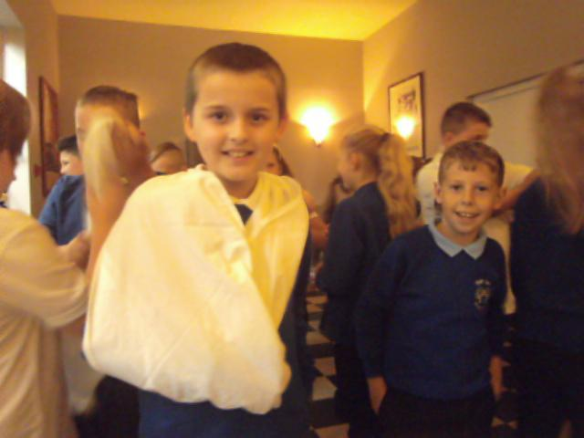 We even learned to tie a bandage!