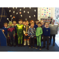 We had fun dressing up as aliens!