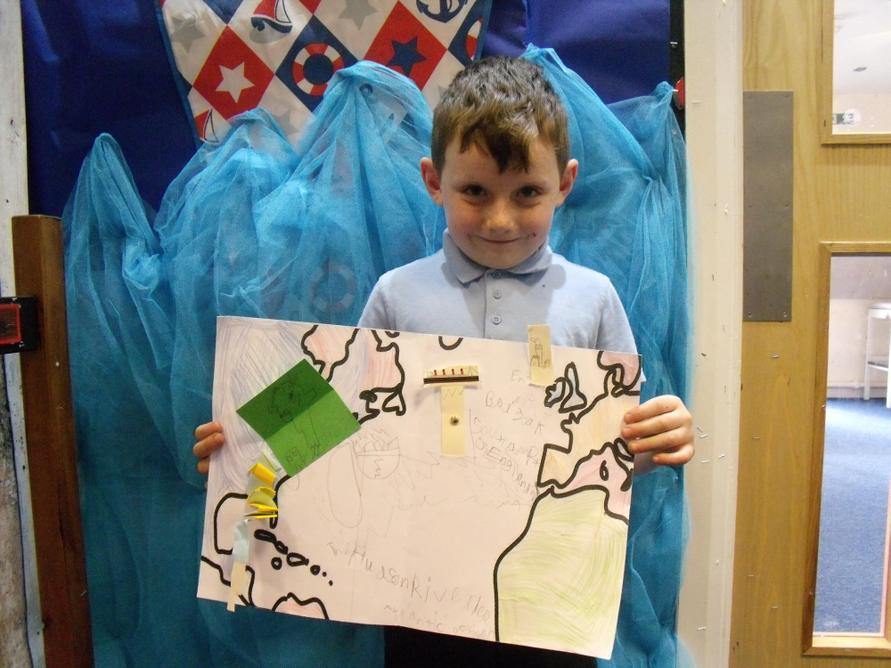 We were proud of our completed maps.
