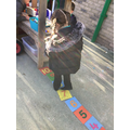 We can play with number tiles.