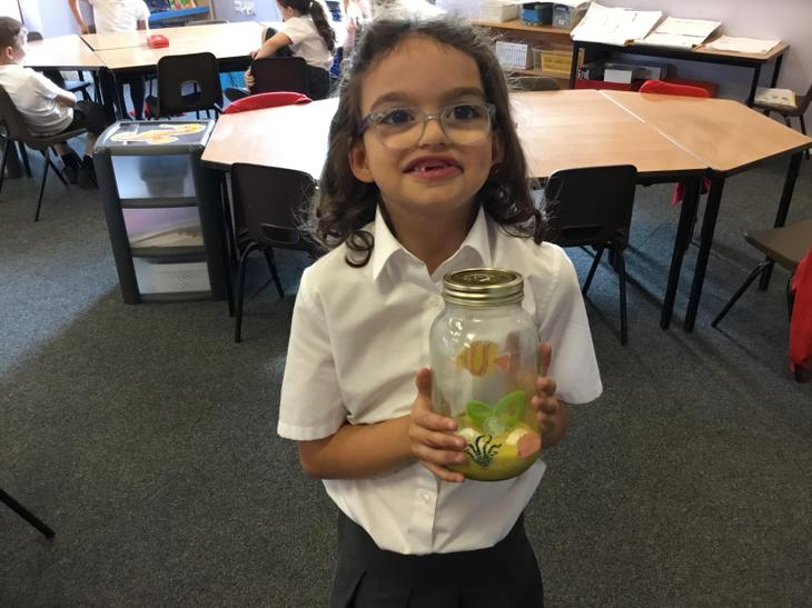Grace had created another scene in a jar