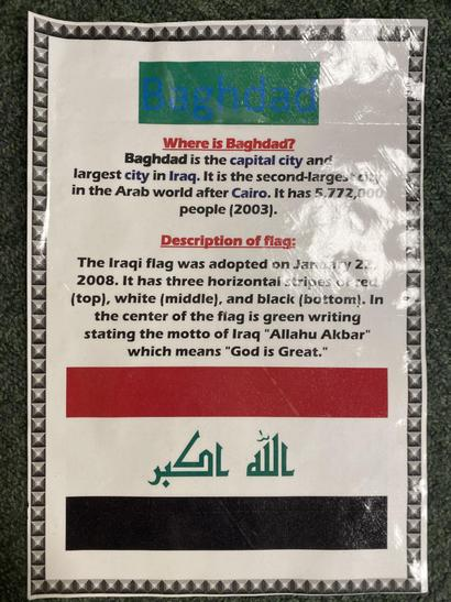 Someone wrote a poster about Baghdad